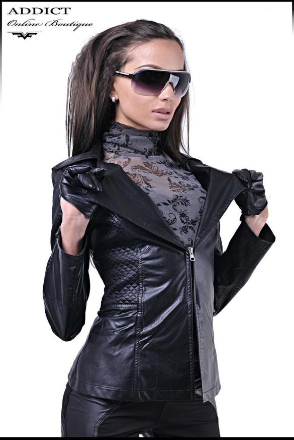 Qke Leather Jacket Front