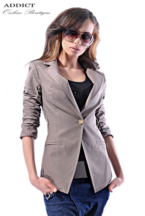 Sako Beige Coat Front