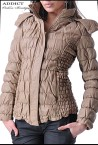 MOCHA LEATHER JACKET Female Fashion