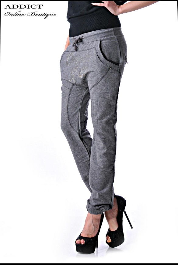 Sport Pant 1 Grey Female Fashion Sporten Pantalon