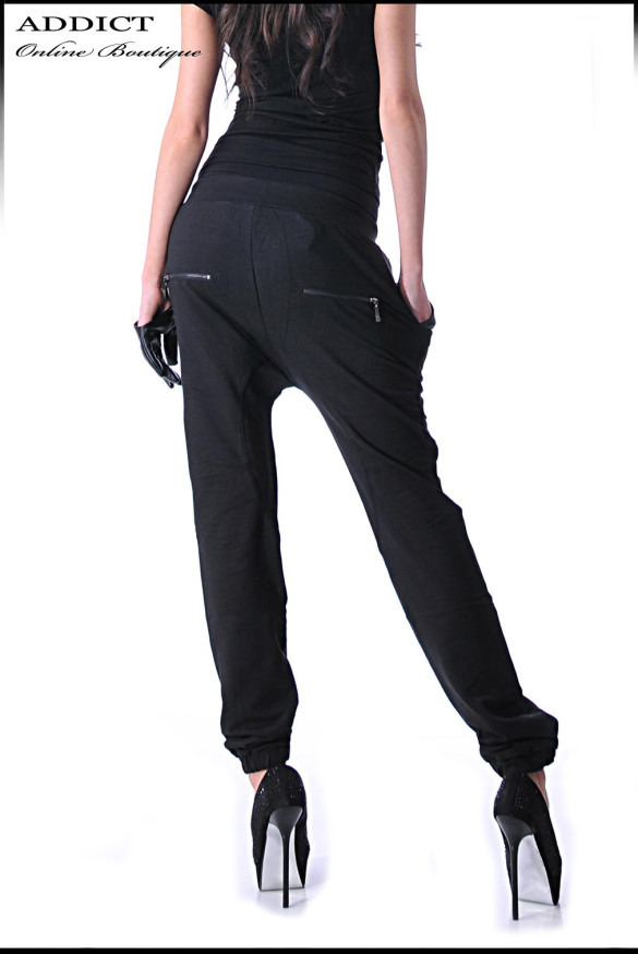 Damski Sporten Pantalon Pants Black