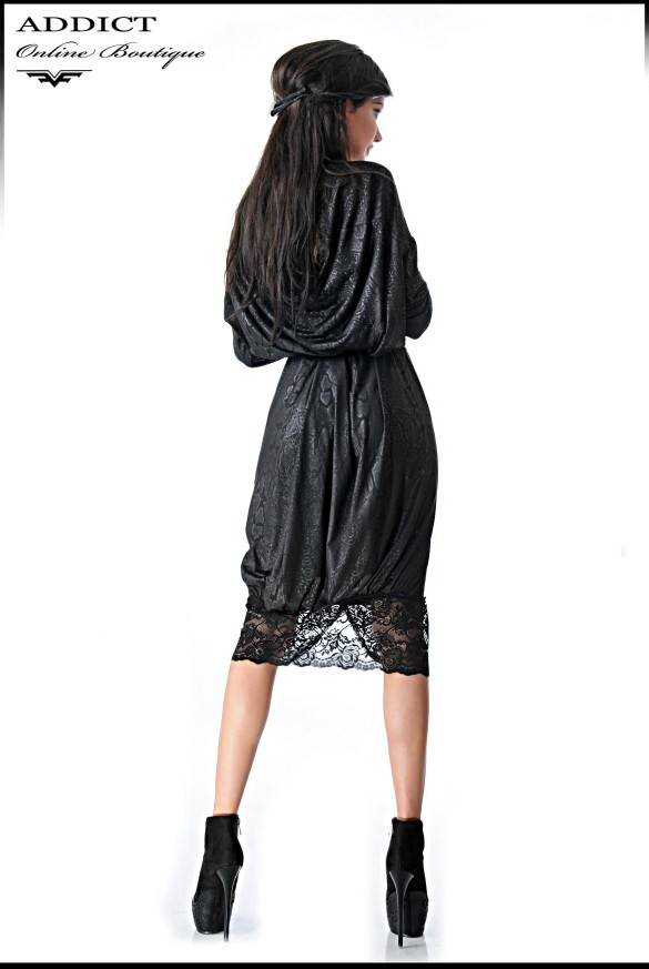 Kassy Print Black Cherna Rear