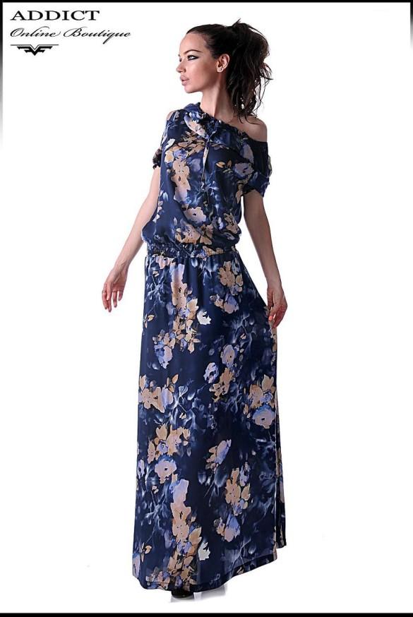тъмно синя рокля FIONA BLUE