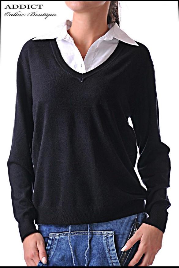 черна дамска блуза 37