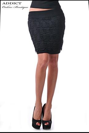 skirt 6  черна пола