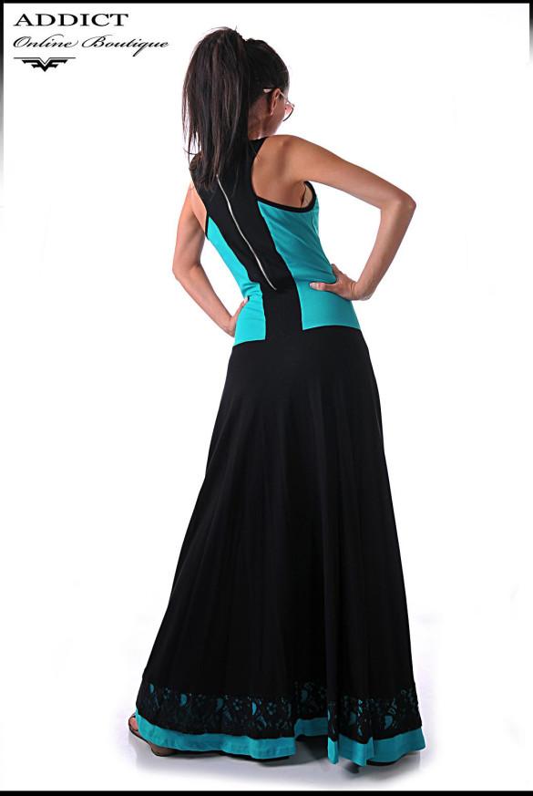 дълга рокля EMA 2 TURQUOISE