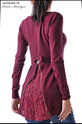 червена дамска блуза blouse-38