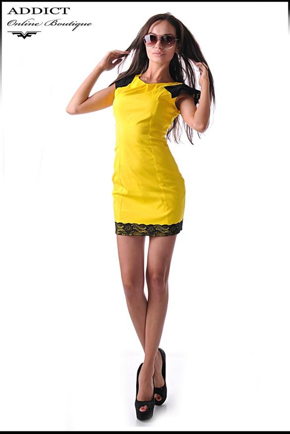 жълта рокля bella yellow 2