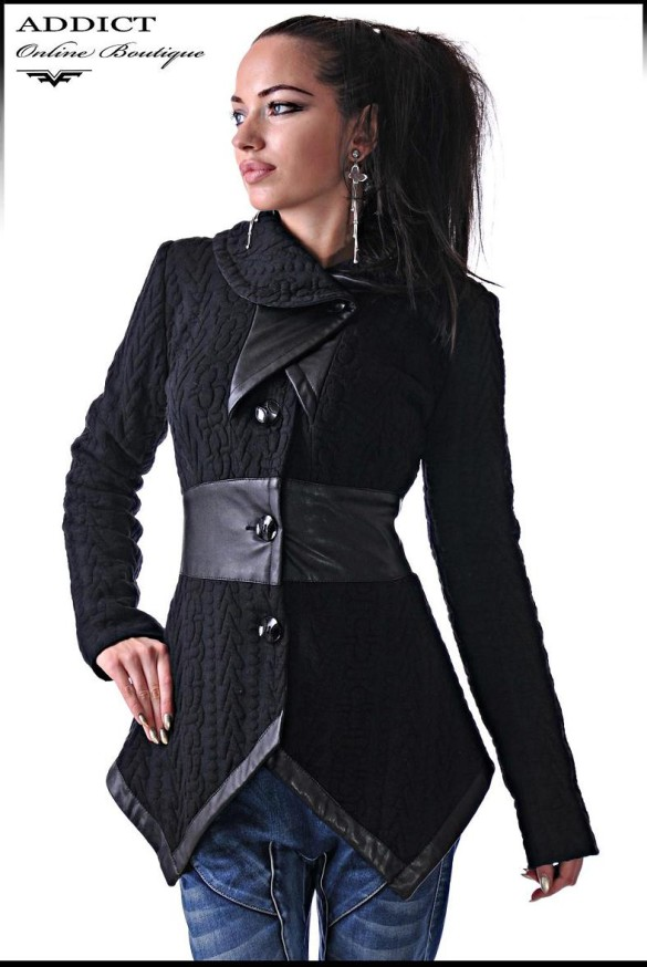 яке-Overcoat Black