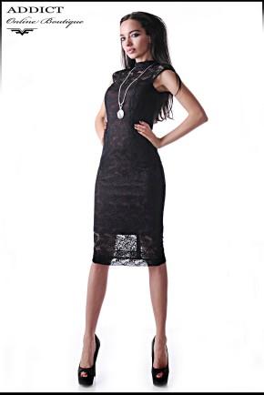 Черна рокля MARCHELA CLARET
