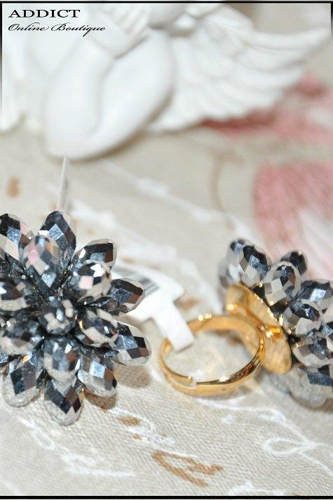 черен дамски пръстен 12