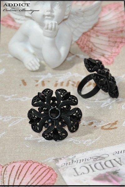 черен дамски пръстен 17