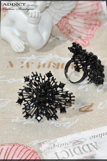 черен дамски пръстен 15