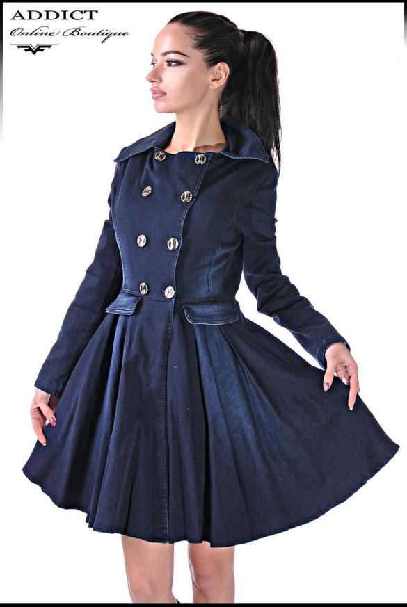 Двънково манто DENIM COAT 2 3