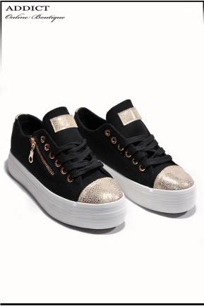 Дамски обувки Snakers 9 черни 1