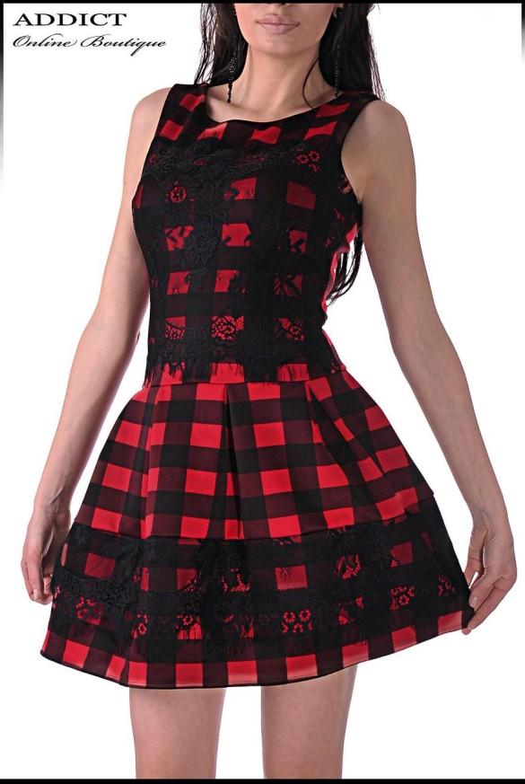 Рокля BLACK-RED DRESS