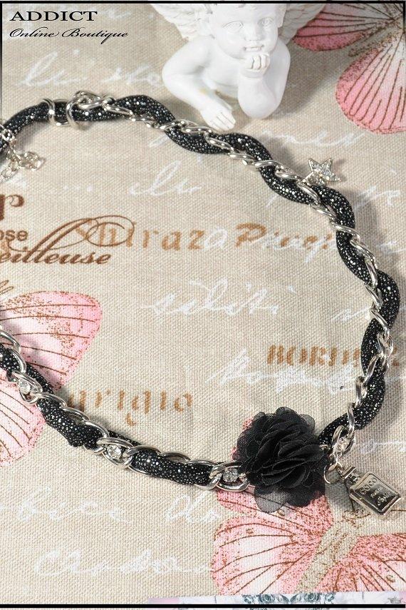 колие necklace black 123 1