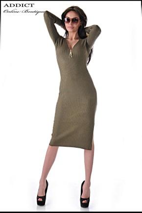 рокля SLIM DRESS GREEN 2