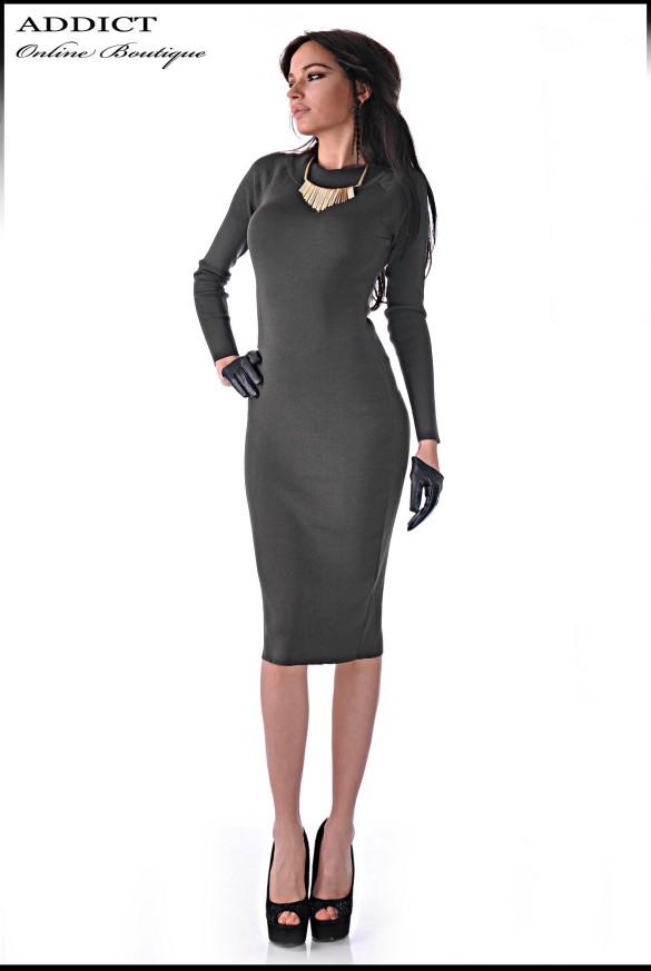 рокля SLIM DRESS GREEN 3