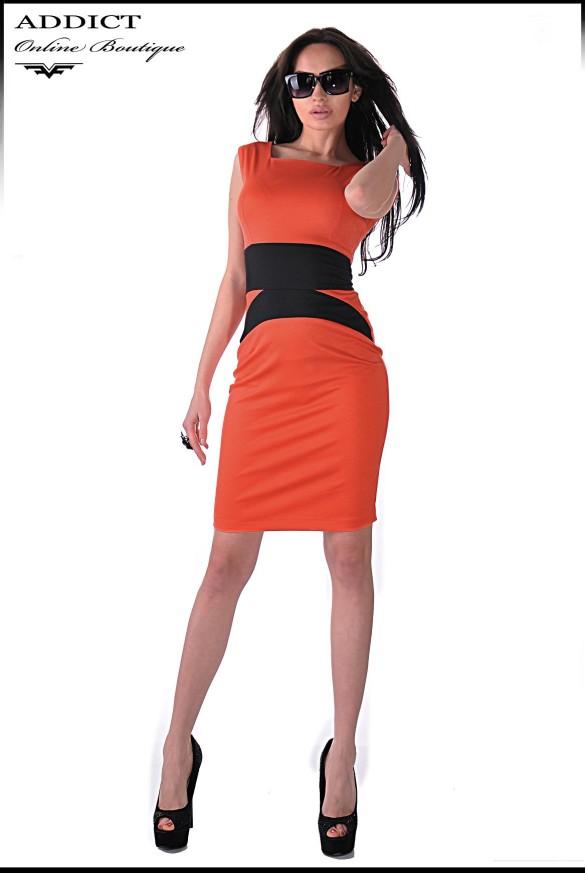 oranjeva elegantna roklya