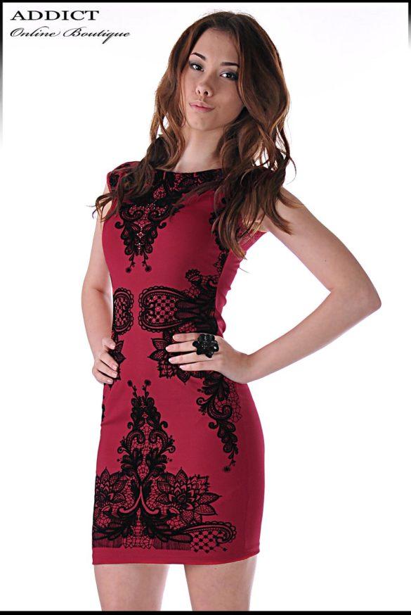 elegantna chervena roklya 3