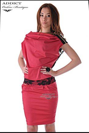 lyatna chervena roklya s dantela morgan