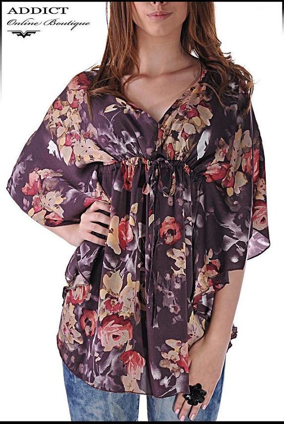 lyatna tymno  bluza blouse butterfly 5