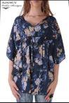 lyatna tymno sinya bluza blouse butterfly 2