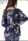lyatna tymno sinya bluza blouse butterfly 3