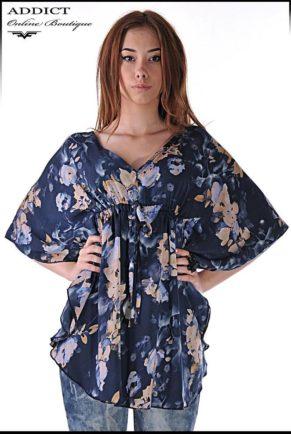 lyatna tymno sinya bluza blouse butterfly 4