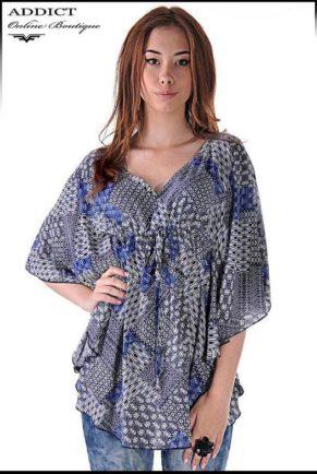 lyatna tymno sinya bluza blouse butterfly 5