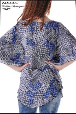 lyatna tymno sinya bluza blouse butterfly 6