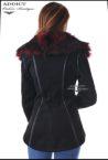 cherno elegantno yake paris black s chervena yaka 2
