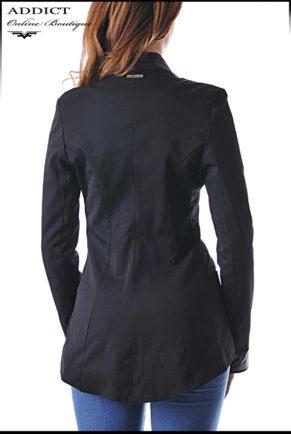 elegantno cherno sako elegant coat 5 slim 5