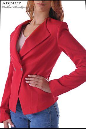 elegantno cherveno sako 2
