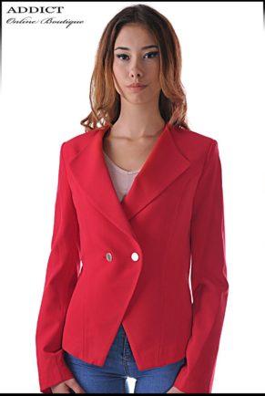 elegantno cherveno sako