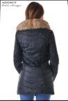 sportno коjeno  cherno yake s puhena yaka 3 leather jacket