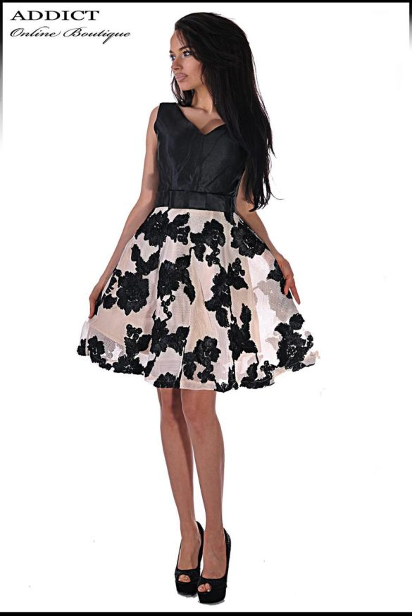 elegantna cherna roklya black jasmin 11