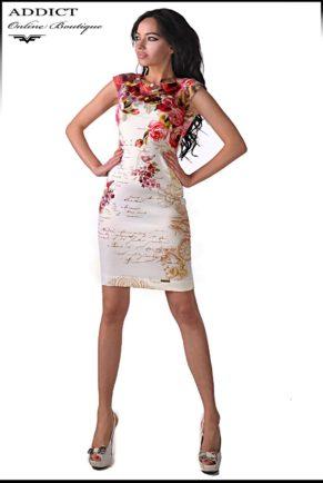 рокля със щампа на цветя