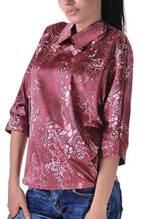 dizainerska riza ot saten sport pink lace ot butik addict 2