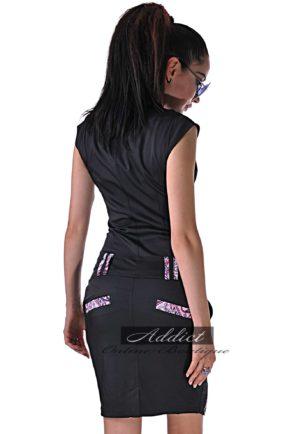 elegantna dozainerska cherna roklya kandy purple lace ot butik addict lozanova 3