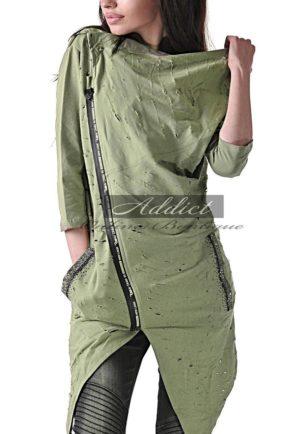 sporten trench sport coat raw green