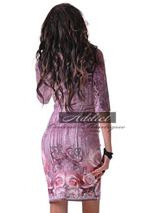 dizainerska roklya s rozi ot butik addict adi atic nikoleta lozanova