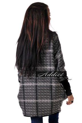 zimno poncho palto addict boutique overcoat 8 grey square