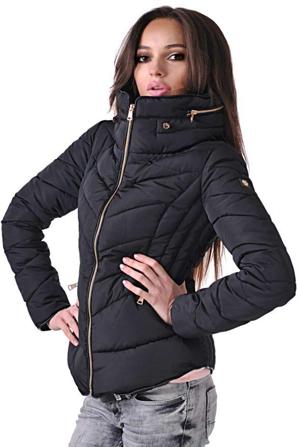 дамско черно спортно яке