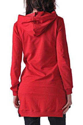 chervena sportna bluza sport red blouse 2