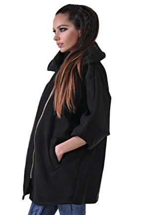 zimno cherno poncho overcoat 14 black ot butik addict