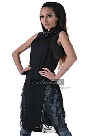 dizainerska cherna tunika s dantela i koja puma ot buti addict