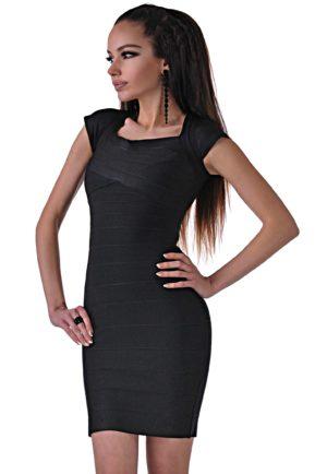 черна ластична рокля