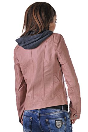 leather pink jacket 2
